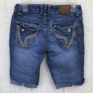 Stretchy jeans shorts